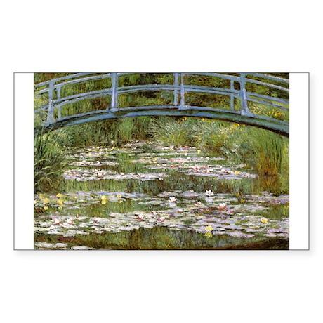 Claude Monet Sticker (Rectangle)