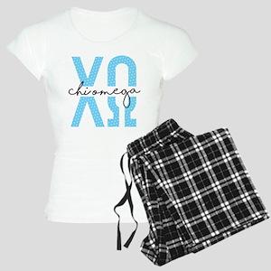 Chi Omega Polka Dots Women's Light Pajamas