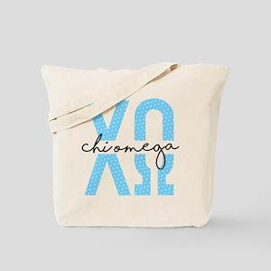 Chi Omega Polka Dots Tote Bag