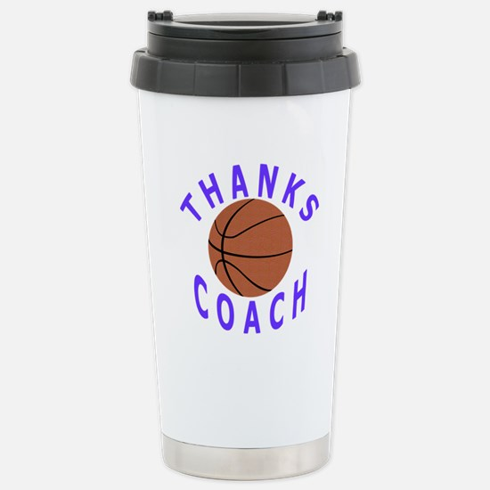 Thank You Basketball Coach Stainless Steel Travel
