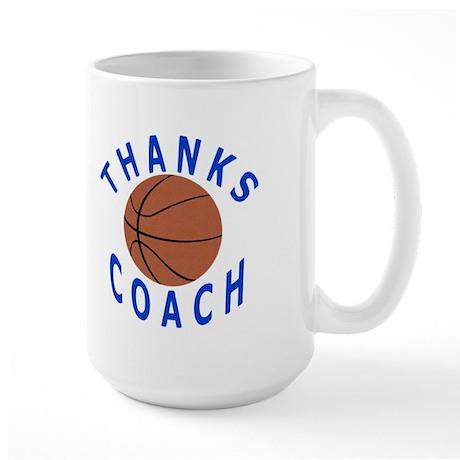 Thank You Basketball Coach Large Mug