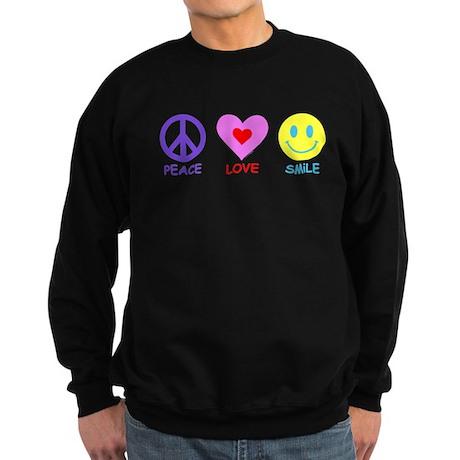 Peace Love Smile Sweatshirt (dark)