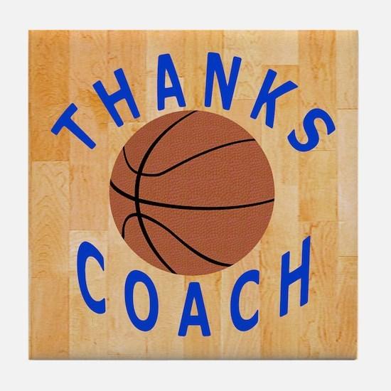 Thank You Basketball Coach Tile Coaster