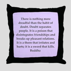 Buddha wisdom Throw Pillow