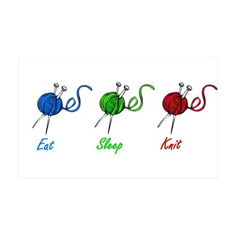Eat sleep knit 38.5 x 24.5 Wall Peel