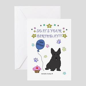 Scottish terrier happy birthday office supplies gifts cafepress scottish terrier happy birthday office supplies scottish terrier greeting card m4hsunfo