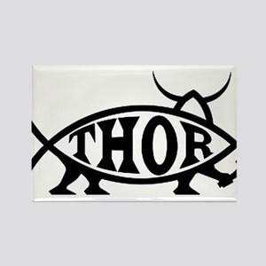 Thor Fish with Hammer Rectangle Magnet