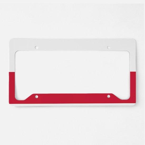 Polish Flag License Plate Holder