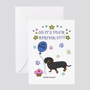 Dachshund baby greeting cards cafepress dachshund greeting card m4hsunfo