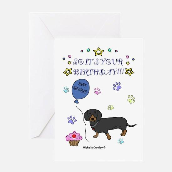 Dachshund Greeting Card