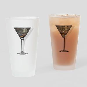 New York Cosmopolitan Drinking Glass