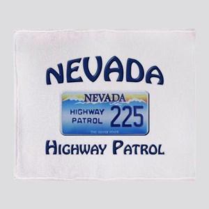 Nevada Highway Patrol Throw Blanket