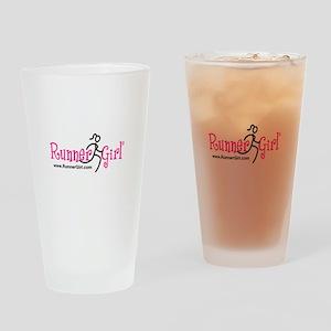 RunnerGirl Drinking Glass