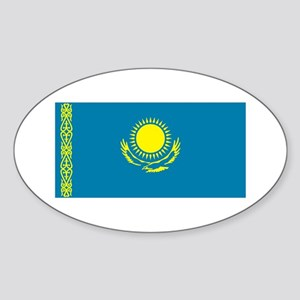 Kazakhstan Flag Oval Sticker