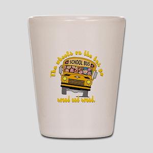 School Bus Kids Shot Glass