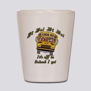 Hi Ho School Bus Shot Glass