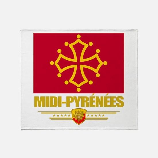 Midi-Pyrenees Throw Blanket