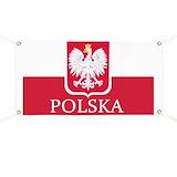 Polish flag Banners