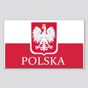 Polish Flag Sticker (Rectangle)