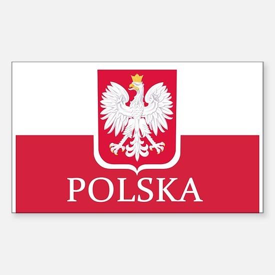 Polish Flag Sticker (Rectangle)