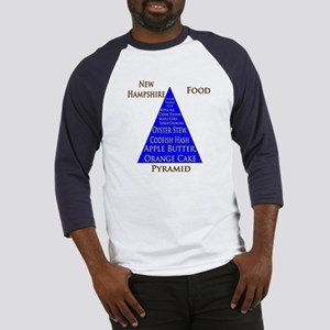 New Hampshire Food Pyramid Baseball Jersey