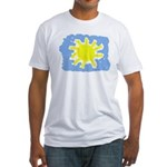 Painted Sun Fitted T-Shirt