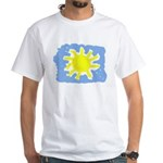 Painted Sun White T-Shirt