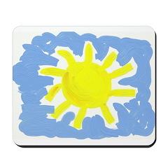 Painted Sun Mousepad