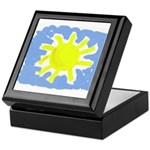 Painted Sun Keepsake Box