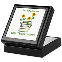 Sunflowers & Books 4 Libraries Keepsake Box