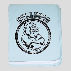 Bulldogs Team Mascot Graphic baby blanket