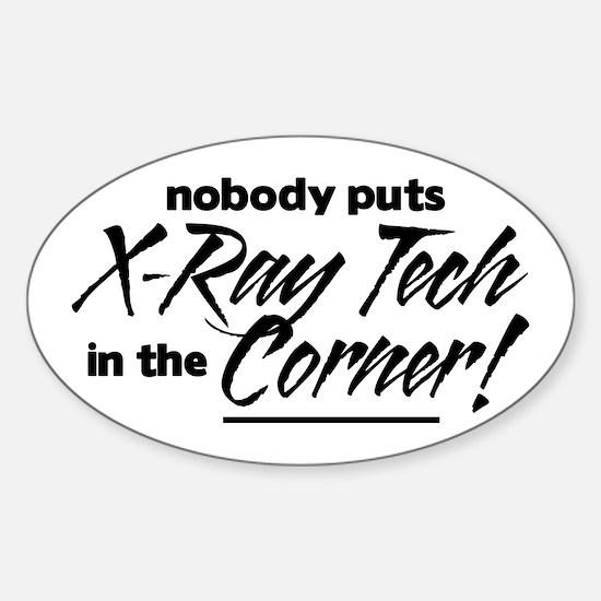 X-Ray Nobody Corner Sticker (Oval)