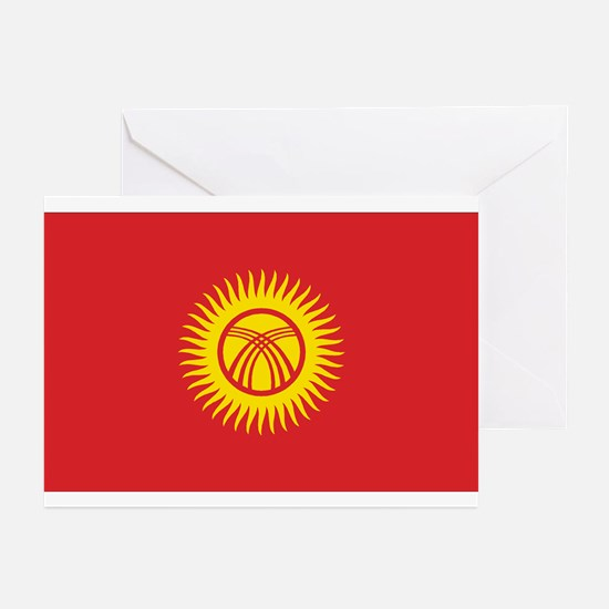 Kyrghyzstan Flag Greeting Cards (Pk of 10)