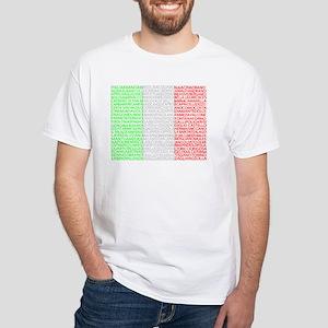 Italian Cities Flag White T-Shirt