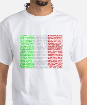 Italian Cities Flag White T-Shirt
