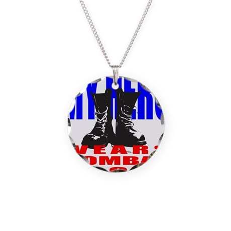 MY HERO WEARS COMBAT BOOTS Necklace Circle Charm