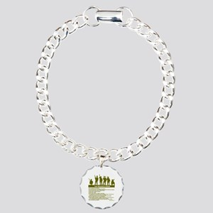 SOLDIER'S CREED Charm Bracelet, One Charm