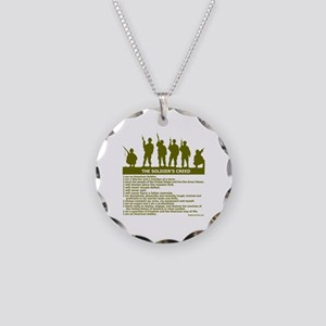 SOLDIER'S CREED Necklace Circle Charm