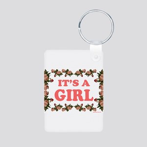 IT'S A GIRL Aluminum Photo Keychain