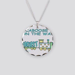 DUE IN AUGUST Necklace Circle Charm