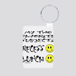 LUNCH AND RECESS Aluminum Photo Keychain