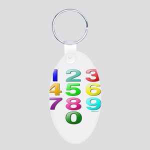 COUNTING/NUMBERS Aluminum Oval Keychain