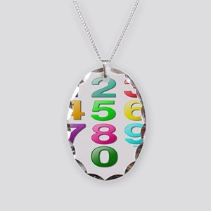 COUNTING/NUMBERS Necklace Oval Charm