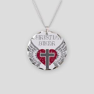 CHRISTIAN BIKER Necklace Circle Charm