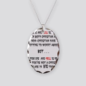IF YOU DIE Necklace Oval Charm