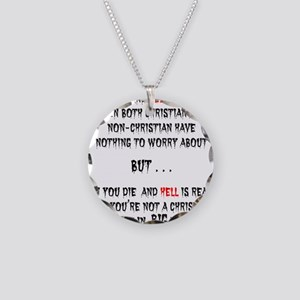 IF YOU DIE Necklace Circle Charm
