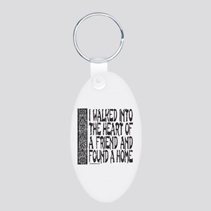 HEART OF A FRIEND Aluminum Oval Keychain