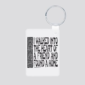 HEART OF A FRIEND Aluminum Photo Keychain