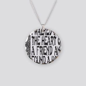 HEART OF A FRIEND Necklace Circle Charm