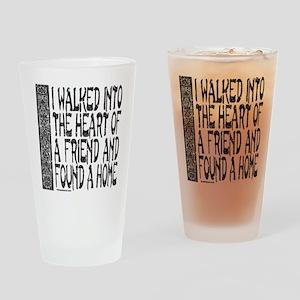 HEART OF A FRIEND Drinking Glass